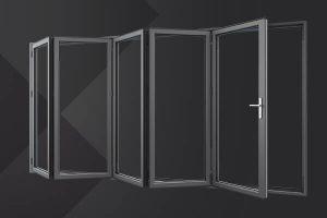 Aluminium bifold door frame