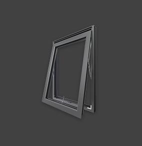 Aluminium casement window frame