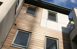 Grey aluminium windows installation