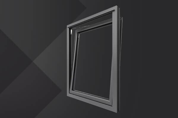 Aluminium tilt and turn window frame
