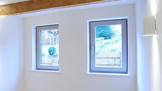 Aluminium tilt & turn windows interior view