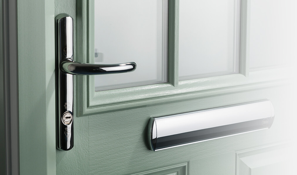 Chartwell green composite door and silver hardware